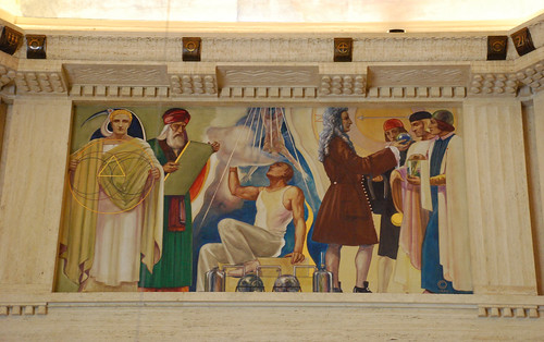 Griffith Observatory - 'Mathematics and Physics', a Hugo Ballin Mural