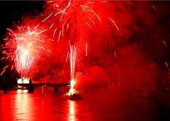 Basel Under Fire (MyPreview) Tags: city light party summer sky color schweiz switzerland evening abend licht nikon europa europe play fireworks nacht sommer himmel basel stadt romantic 2008 rhine rhein basle feuerwerk nationalholiday nationalfeiertag romantisch 1august d80 nikond80