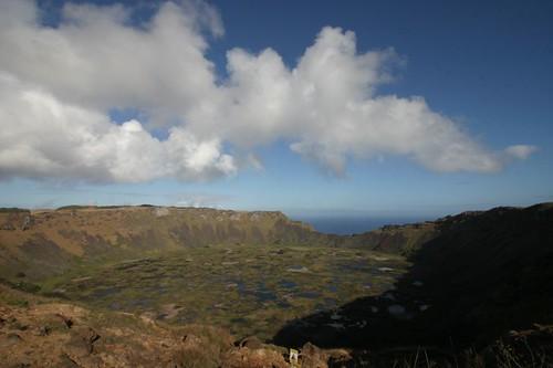 The impressive Rano Kau Volcano, Rapa Nui.