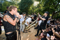 Hungry March Band with Leftover Crack (konstantin sergeyev) Tags: nyc eastvillage newyork downtown lowereastside crack ezra loc riots tompkinssquarepark hungrymarchband leftovercrack 20thanniversary stza chokingvictim