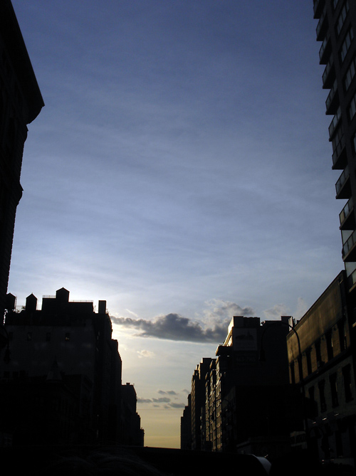 sunset on 23rd Street, Manhattan, NYC