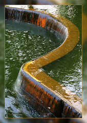"""""""R"""", Matey (Okie Dan) Tags: green wet water reflections waterfall beige ripples okc blueribbonwinner canonxsi topqualityimagesonly"""