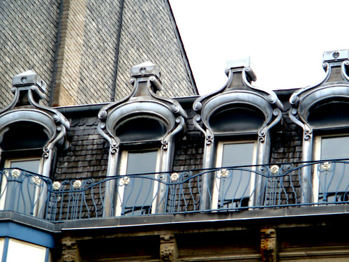 art nouveau roof windows