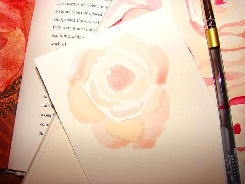 roses paintbrush first rose tea wash