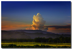 Bangladesh : The Golden Giant (Shabbir Ferdous) Tags: blue sunset sky cloud color colour green nature landscape golden photographer bangladesh bangladeshi shabbir canoneos5d ef70200mmf28lisusm shabbirferdous wwwshabbirferdouscom shabbirferdouscom