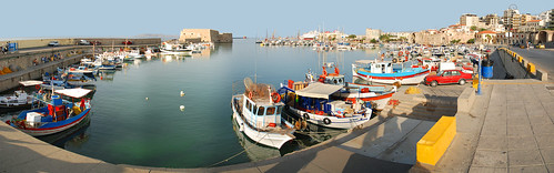 Heraklion port and fortress (Crete, Greece)