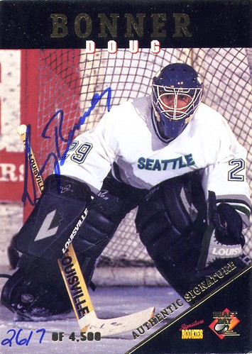 Doug Bonner, Seattle Thunderbirds, 1995 Signature Rookies, hockey, hockey cards, WHL