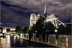 Notre Dame (aumbody images) Tags: city longexposure light vacation sky holiday paris france building church seine architecture night clouds europe cathedral notredame notredamecathedral laseine impressedbeauty thepinnaclehof tphofweek25