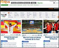 La web de RTVE para los JJOO