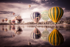 "Colorado Balloon Classic - ""Balloon surreal"" (iceman9294) Tags: blue red sky hot color festival balloons bravo colorado air hotair balloon surreal professional coloradosprings hotairballoon hotairballoons ballooning memorialpark coloradoballoonclassic prospectlake infinestyle"