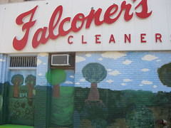 Youth Farm/Falconer's Cleaners Mural by Unknown