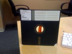 Giant floppy disk