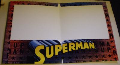 Interior of my third Superman folder from 2006