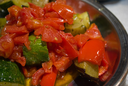 BBQ Spicy Vegetables w/ Tomato Jus