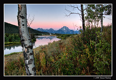 Good Morning! (James Neeley) Tags: mountains nature sunrise landscape nikon mountmoran tetons hdr grandtetonnationalpark d300 gtnp oxbowbend 5xp visiongroup jamesneeley vision100