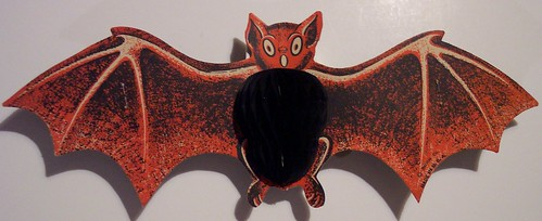 Vintage Halloween Folding Bat Diecut