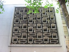 patterned wall (squeezemonkey) Tags: wall 1960s achitecture perforatedwall