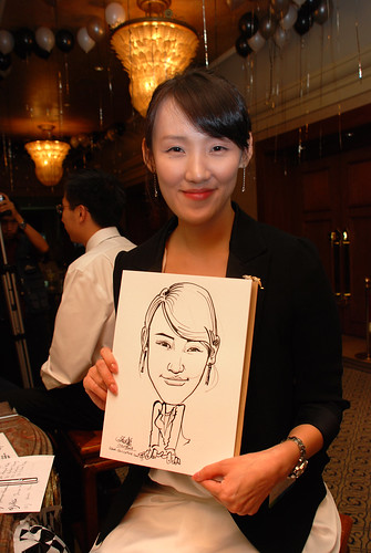 Caricature live sketching for Standard Chartered Bank Legal Learning Event 8