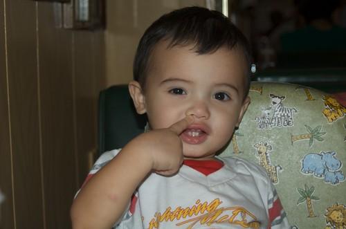 Benji saying shhhh!