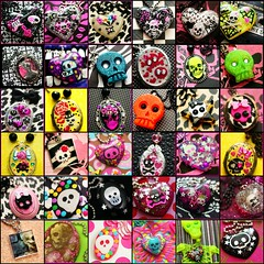 SKULLS!!!!!!!! (stOOpidgErL) Tags: skull diy necklace fdsflickrtoys handmade craft jewelry plastic resin pendant stoopidgerl