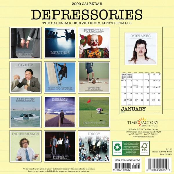 Hey! I'm in the 2009 Depressories Wall Calendar!