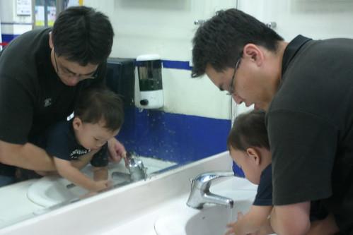 你拍攝的 大魯閣:Min 洗手。