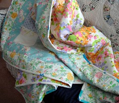 picnic sheet quilt detail