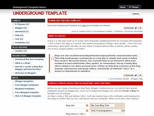 Underground template