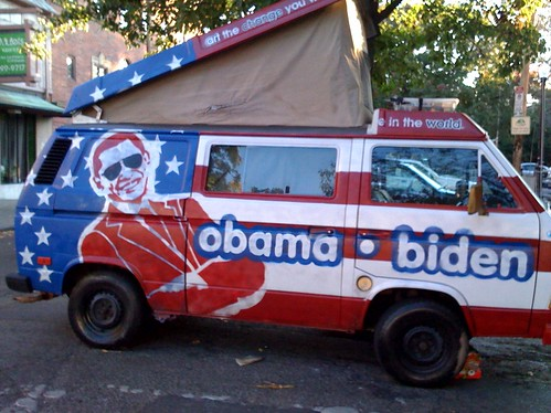 Obama Biden Hand Painted Van