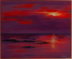 Cable beach (Sarah Sollom) Tags: sunset sea sky sunlight seascape art beach water night sunrise reflections painting noche soleil rocks waves skies moody playa ciel tropical romantic colourful soir plage nightfall cablebeach cieux tropicalbeach tropicalsunset romanticsunset sharingart