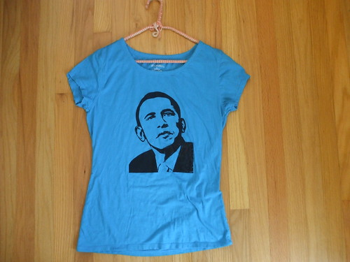 blue Barack Obama shirt!