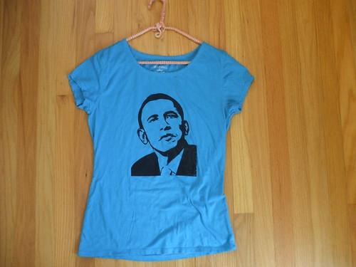 blue Barack Obama shirt!