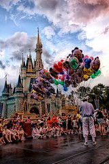Disney - Main Street Balloons In Front of the Castle (Express Monorail) Tags: travel walter vacation usa castle clouds america wonder geotagged fun psp orlando nikon mainstreet colorful florida magic dream kingdom wed elias disney mickey disneyworld fantasy saturation mickeymouse imagine theme cinderella wish orangecounty nikkor wdw waltdisneyworld walt magical kissimmee themepark magickingdom waltdisney mainstreetusa wdi lakebuenavista imagineering cinderellacastle d40 waltdisneyworldresort disneypictures 18135mm disneyparks disneypics expressmonorail mainstreethub disneyphotos paintshopprophotox2 disneyicon joepenniston disneyphotography disneyimages geo:lat=28418895 geo:lon=81581273