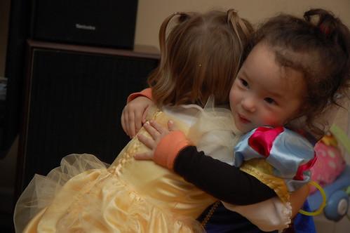Hugging Belle