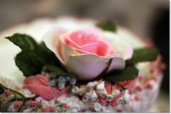 Wedding Cake (DufferLong) Tags: pink wedding food flower cake canon newjersey long dof bokeh nj canonef35mmf14lusm canoneos40d canon40d dufferlong