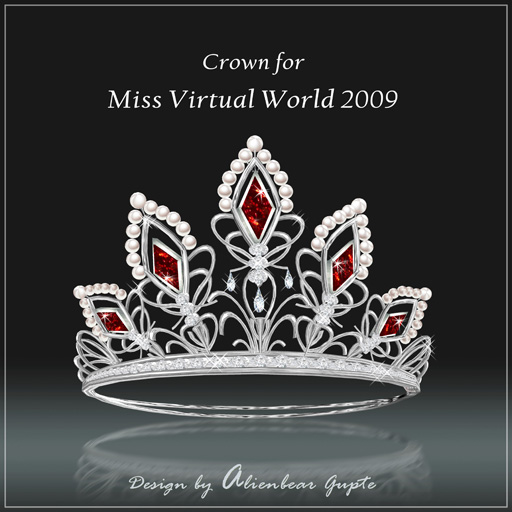 Miss Virtual World Crown front