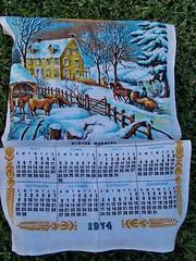 1974 Calendar Towel