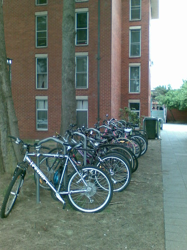 Conventional bike parking lot