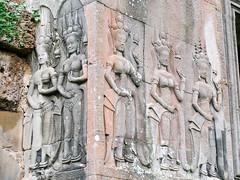 Apsaras.Bas-reliefs