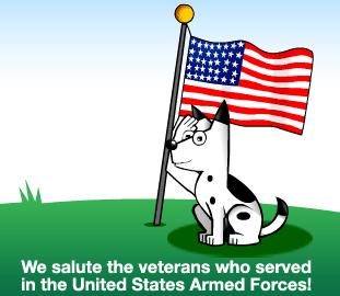 DogPile Veterans Day Logo