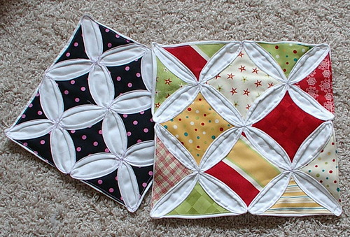 Sunshine's Creations.Vintage Threads Inc.com: Part 1:tutorial ... : cathedral window quilting - Adamdwight.com