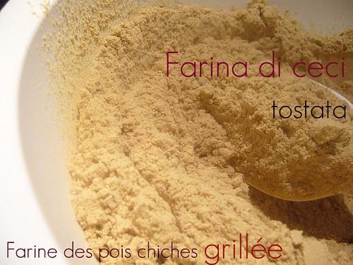 Farina di ceci tostata