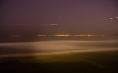 The Opening of Crab Season (AGrinberg) Tags: ocean longexposure night plane high waves nocturnal pacific shoreline crab trail dungeness opening pacifica startrails 17497crabopen2 17497crabopen