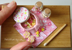 Minifood - Sucreries en Rose #4 (PetitPlat - Stephanie Kilgast) Tags: pink rose candy sugar sweets minifood lollipop 112 bonbons minis dollhouse sucette dollshouse miniaturefood miniaturen oneinchscale petitplat surcreries