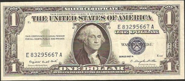 1 dollar USA 1957, P419a - XF