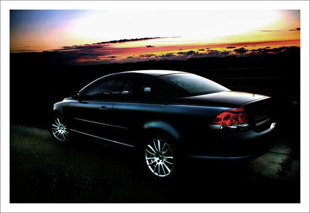 sunset color car photoshop volvo works 2008 c70 cs3 practising colorworks devember shootit