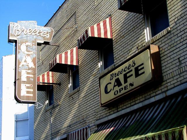 Breece's Cafe sign B