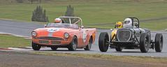 Bob Thomas 1960 Sunbeam Alpine & Bruce Harwig 1939 Chrysler Special (dicktay2000) Tags: cars thomas australia racing alpine chrysler sunbeam easterncreek harwig img3572 hsrca tasmanrevival