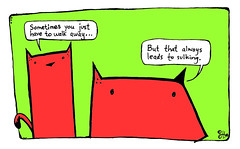 """""""the inevitable"""" - a Yo & Dude comic by eric Hews  2008 (eric Hews) Tags: copyright dog cats cute dogs television illustration cat puppy fun virginia fight puppies kitten funny eric artist comic day time drawing walk live web yo humor cartoon emo creative culture kitty free funnies kittens away philosophy pop richmond days dude strip writer comicstrip mean illustrator haha another toon simple behavior society 2008 moping surrender sarcasm sarcastic psychology sulking dismissal ambivalent hews biding yodude erichewscom yoanddude erichews 2008erichews yodude ennuizle"""