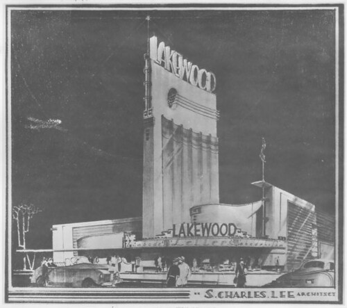 Lakewood Theatre, Lakewood architectural drawing